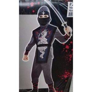 Ninja Death Dragon Costume Child Boys Kids Karate